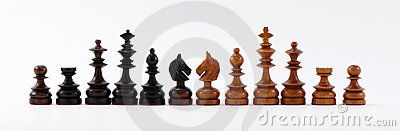 Chess Pieces Black and Brown