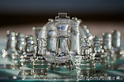 Chess Pieces, Board - business concept series.