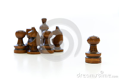 Chess Pieces with a Leader