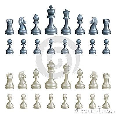 Free Chess Pieces Set Stock Image - 28673771