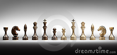 Chess pieces set a complete
