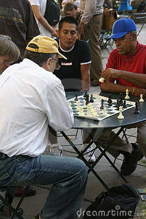 Chess players concentrate on their game Editorial Photo