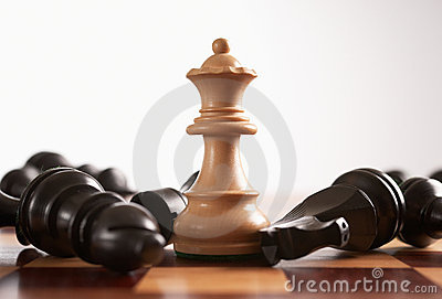 Chess the queen wins the game