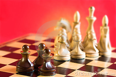 Chess on a red background
