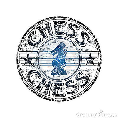 Chess rubber stamp