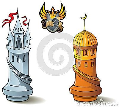 Chess set: Rooks