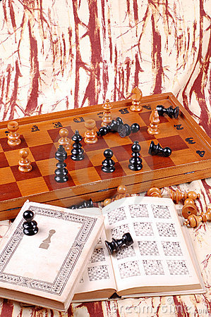 Chess table and chess book