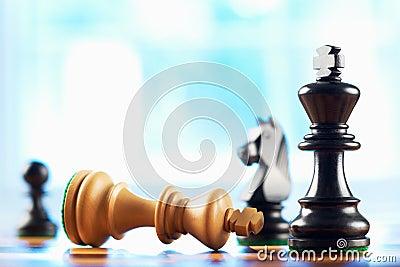 Chess winner defeats white king