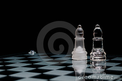 on chessboard