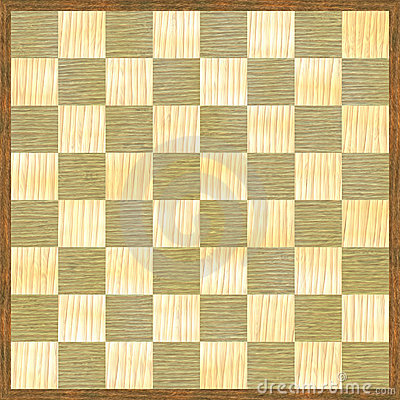 Chessboard checker pattern wood texture