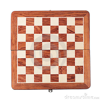 Chessboard isolated over white