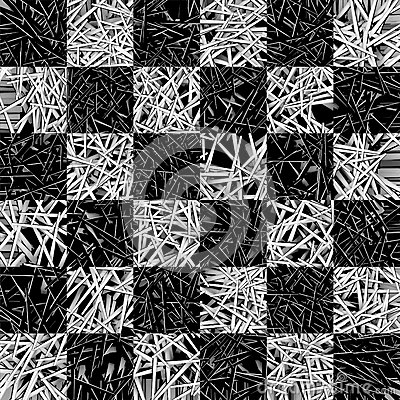 Chessboard pattern made of needles
