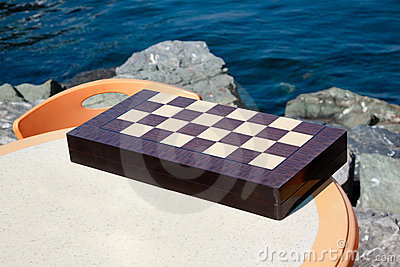 CHESSBOARD on a table