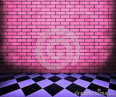 Chessboard Violet Interior Background