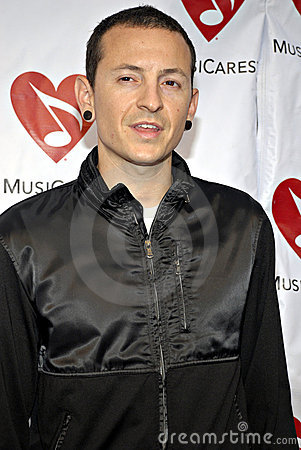 Chester Bennington (Linkin Park) on the red carpet Editorial Image