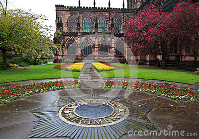 Chester Cathedral in spring Editorial Stock Image