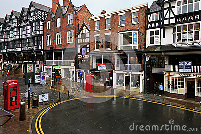 Chester city center Editorial Stock Photo