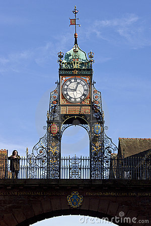 Chester in North West England Editorial Stock Image