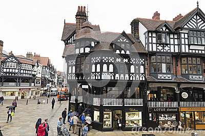 The Chester Shopping Rows Editorial Stock Image