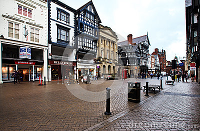 Chester streets, UK Editorial Photography