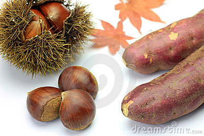 Chestnut and sweet potato