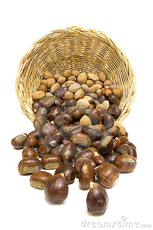 Chestnuts and almonds