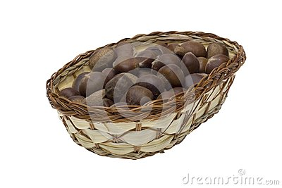Chestnuts in the basket