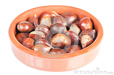 Chestnuts in a rustic bowl