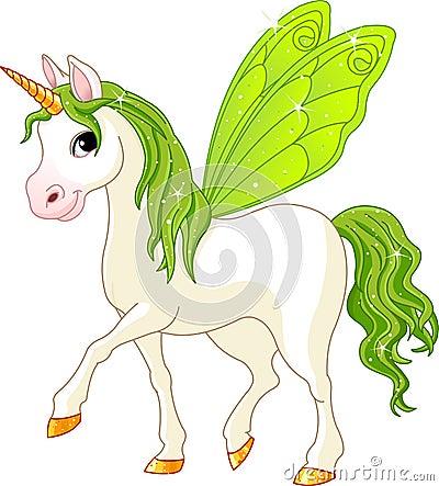 Cheval féerique de vert d arrière