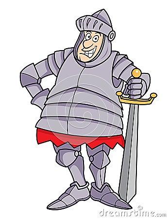 Chevalier dodu de dessin anim dans l 39 armure photo libre - Dessin armure ...
