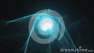 Chevauchement abstrait bleu de lumière de tache floue de lueur de fusée de lentille banque de vidéos