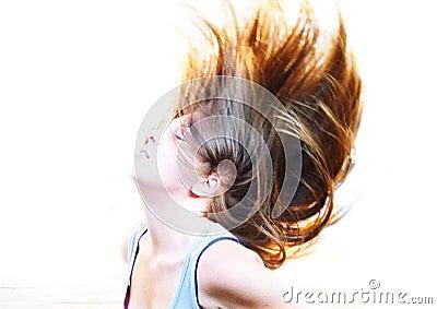 Cheveu coulant librement