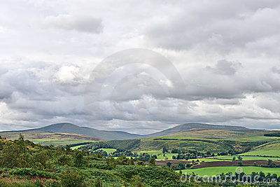 Cheviot Hills, Northumberland, England, UK