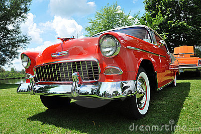 Chevrolet Bel Air in Antique Car Show Editorial Stock Photo