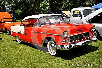 Chevrolet Bel Air in Antique Car Show Editorial Image