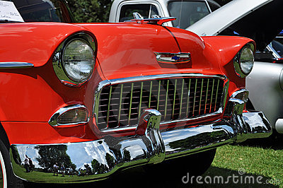 Chevrolet Bel Air in Antique Car Show Editorial Photography