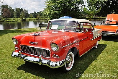 Chevrolet Bel Air in Antique Car Show Editorial Photo