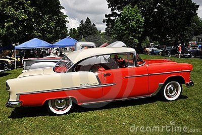 Chevrolet Bel Air en Car Show antiguo Foto de archivo editorial