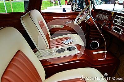 Luxurious vehicle interior stock photo image 50982153 - Custom leather interior for trucks ...