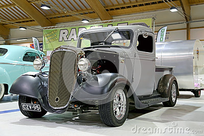 Chevrolet Pickup 1936 Vintage Car in a Show Editorial Stock Image