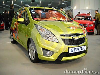 Chevrolet Spark car on Belgrade car show Editorial Stock Photo