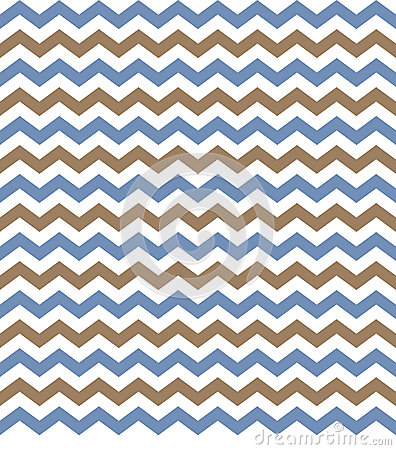 Chevron Blue & Brown Background