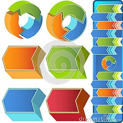 Chevron Circular 3D Menu Icons