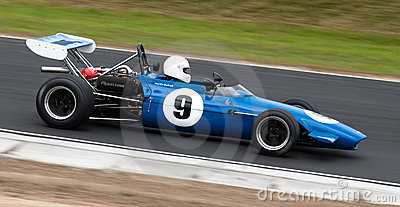Chevron Formula One racing car at speed Editorial Stock Photo