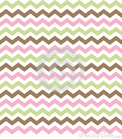 Chevron Sage, Pink & Brown Background
