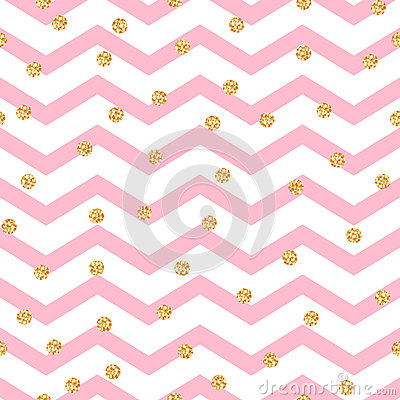 Free Chevron Zigzag Pink And White Seamless Pattern Stock Images - 65314674