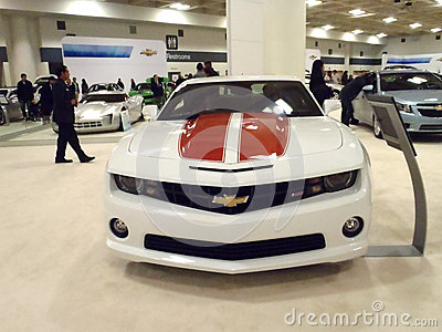 Chevy Cars on Display Editorial Stock Image
