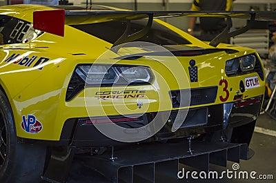 Chevy Corvette GT race car at Daytona Speedway Florida Editorial Photography