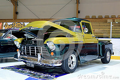 Chevy Stepside 3100 Displayed in a Show Editorial Photography