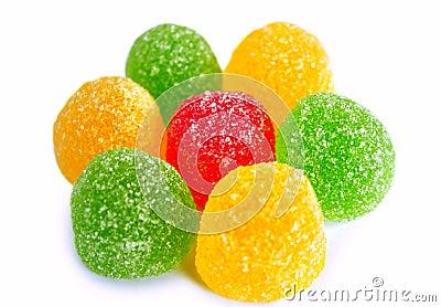 Chewing marmalade multi-colored